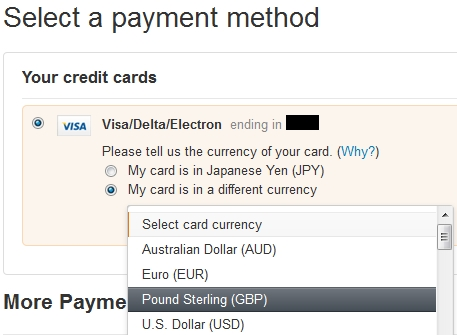 Amazon Currency Converter creditcard change